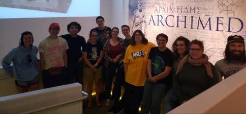 Students Visiting the Archimedes Exhibit in Idaho Falls 2019